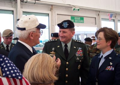FLK and General Schoomacher with LTC K. Tucker at Normany 60th Anniversary