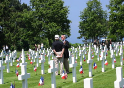FLK and Tom Brokaw in American cemetery, Normany France - 2004