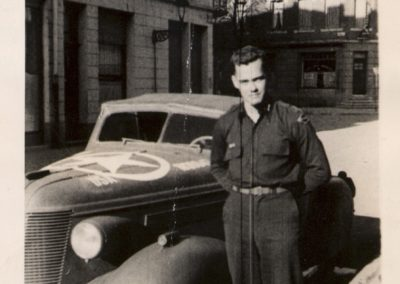 Frank Kennard 1944 Europe with Col Rudder's command car