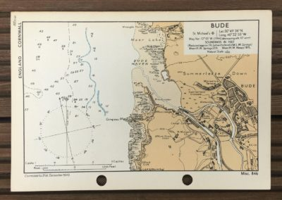 1943 Map of Bude England