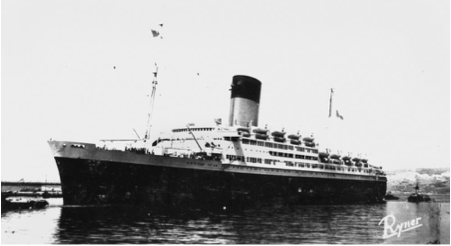 The Pasteur Converted to a Troop Ship in 1943